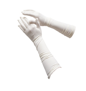 guantes medianos ivory